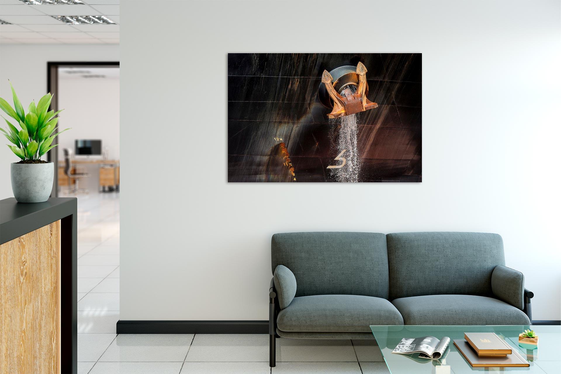 NL055 Anker Hamburg-Wandbild auf Leinwand, Dibond oder hinter Acylglas