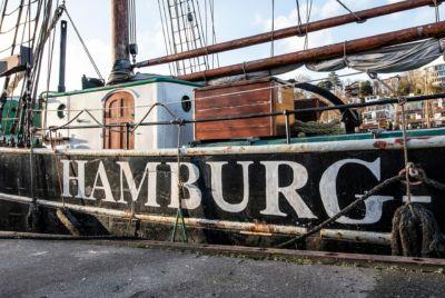 NL057 Schiffswand Hamburg-Wandbild auf Leinwand, Dibond oder hinter Acylglas