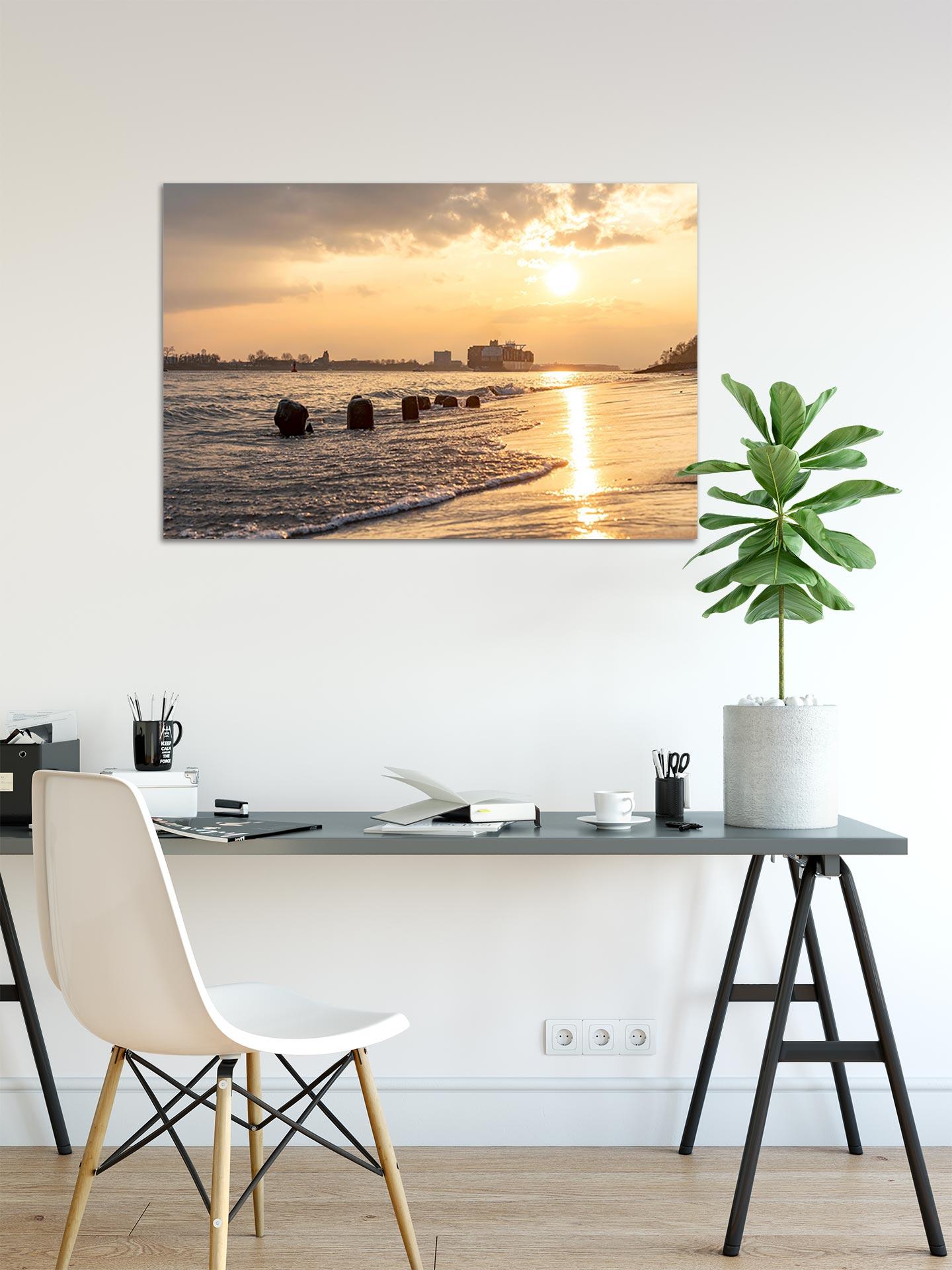NL084-sommerabend-elbe-hamburg-wandbild-bild-auf-leinwand-acrylglas-aludibond-arbeitszimmer