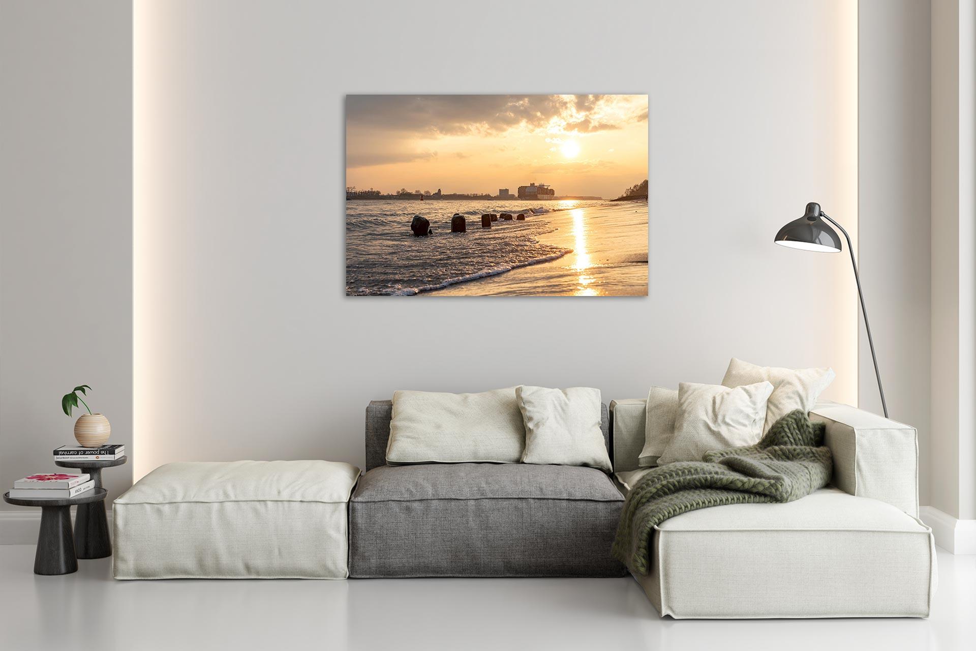 NL084-sommerabend-elbe-hamburg-wandbild-bild-auf-leinwand-acrylglas-aludibond-wohnzimmer