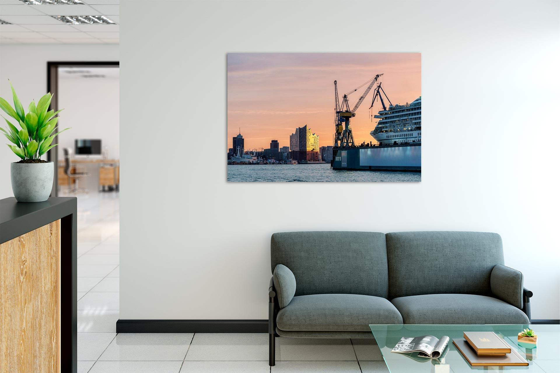 LCW256-dock-11i-hamburg-wandbild-bild-auf-leinwand-acrylglas-aludibond-empfang