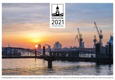 Hamburg-Kalender 2021 Farbe michel und elbe