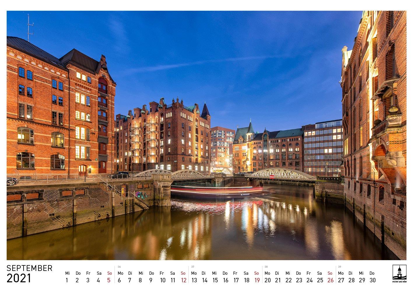 Hamburg Kalender 2021 Farbe