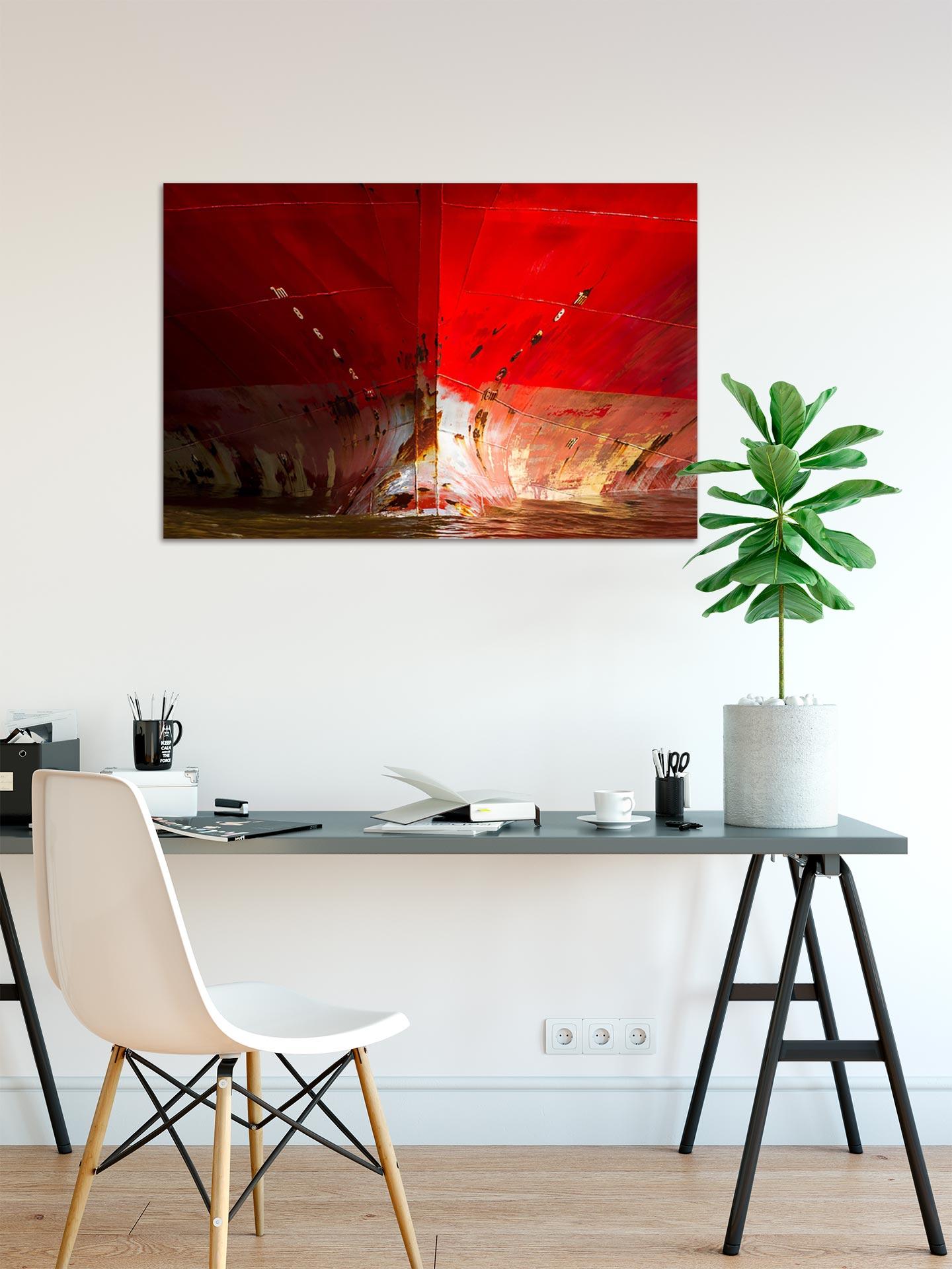 JS001-der-rote-bug-wandbild-bild-auf-leinwand-acrylglas-aludibond-arbeitszimmer