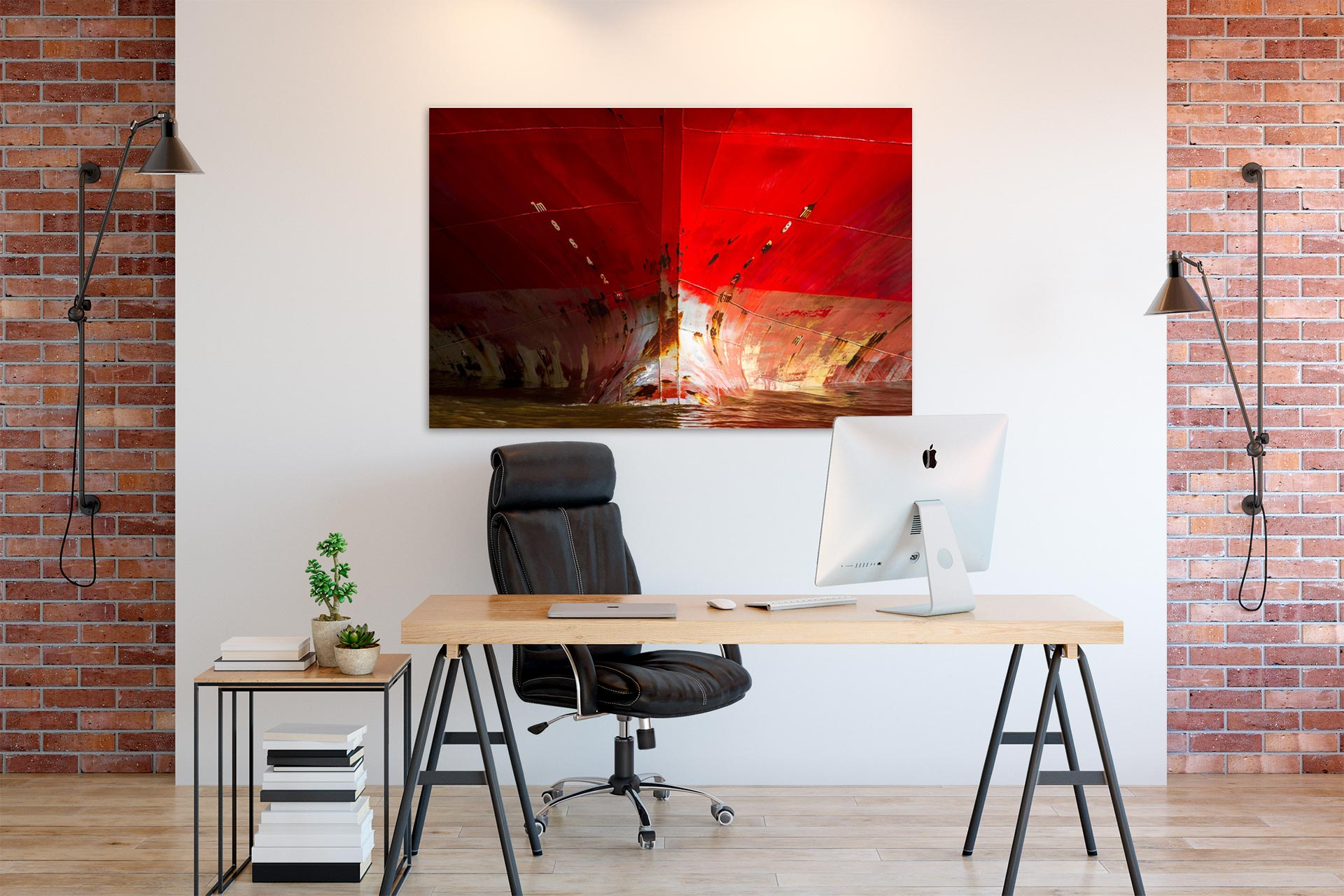 JS001-der-rote-bug-wandbild-bild-auf-leinwand-acrylglas-aludibond-buero