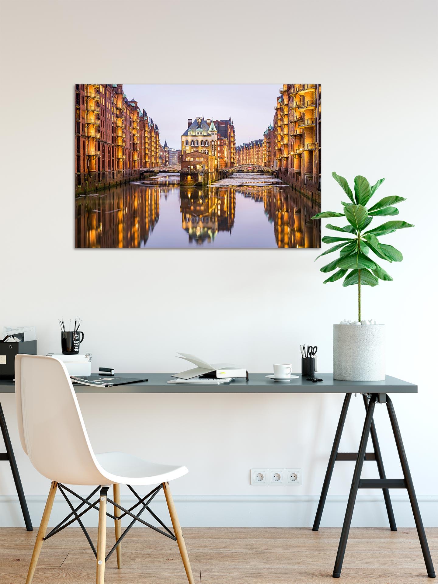 JS028-speicherstadt-hamburg-wandbild-bild-auf-leinwand-acrylglas-aludibond-arbeitszimmer