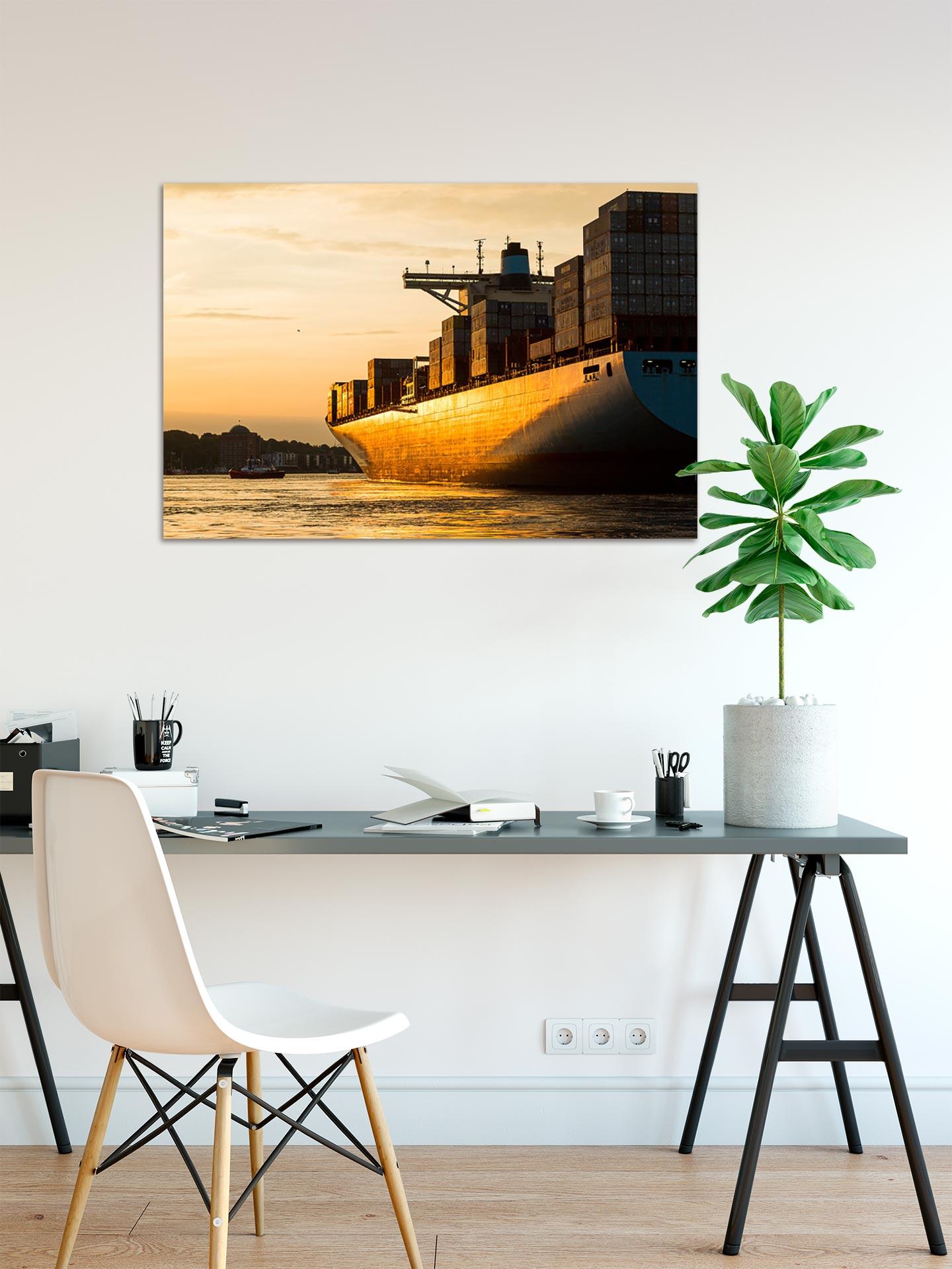 JS090-goldenes-licht-wandbild-bild-auf-leinwand-acrylglas-aludibond-arbeitszimmer