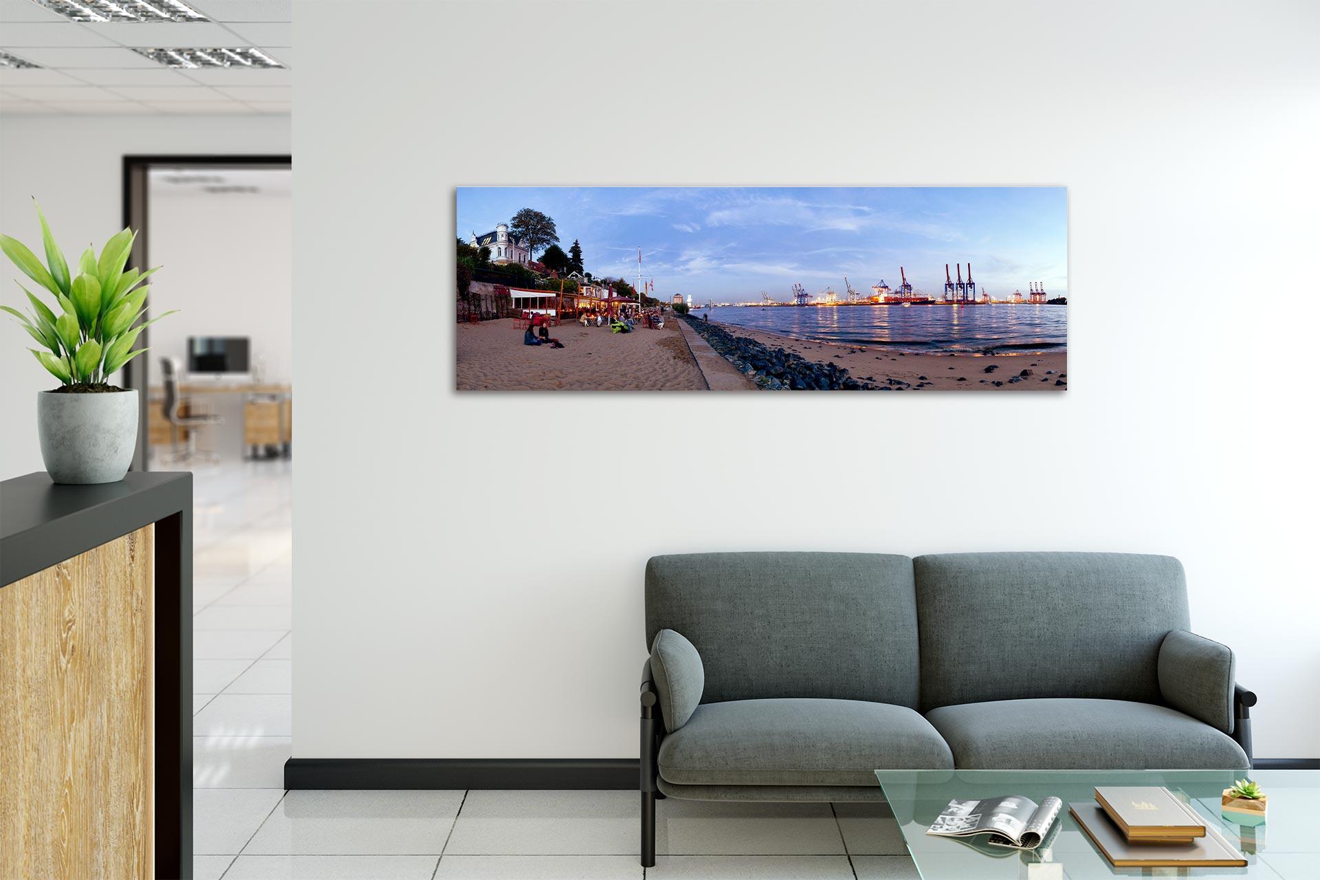 PSW020-elbstrand-panorama-hamburg-wandbild-leinwand-acrylglas-aludibond-empfang