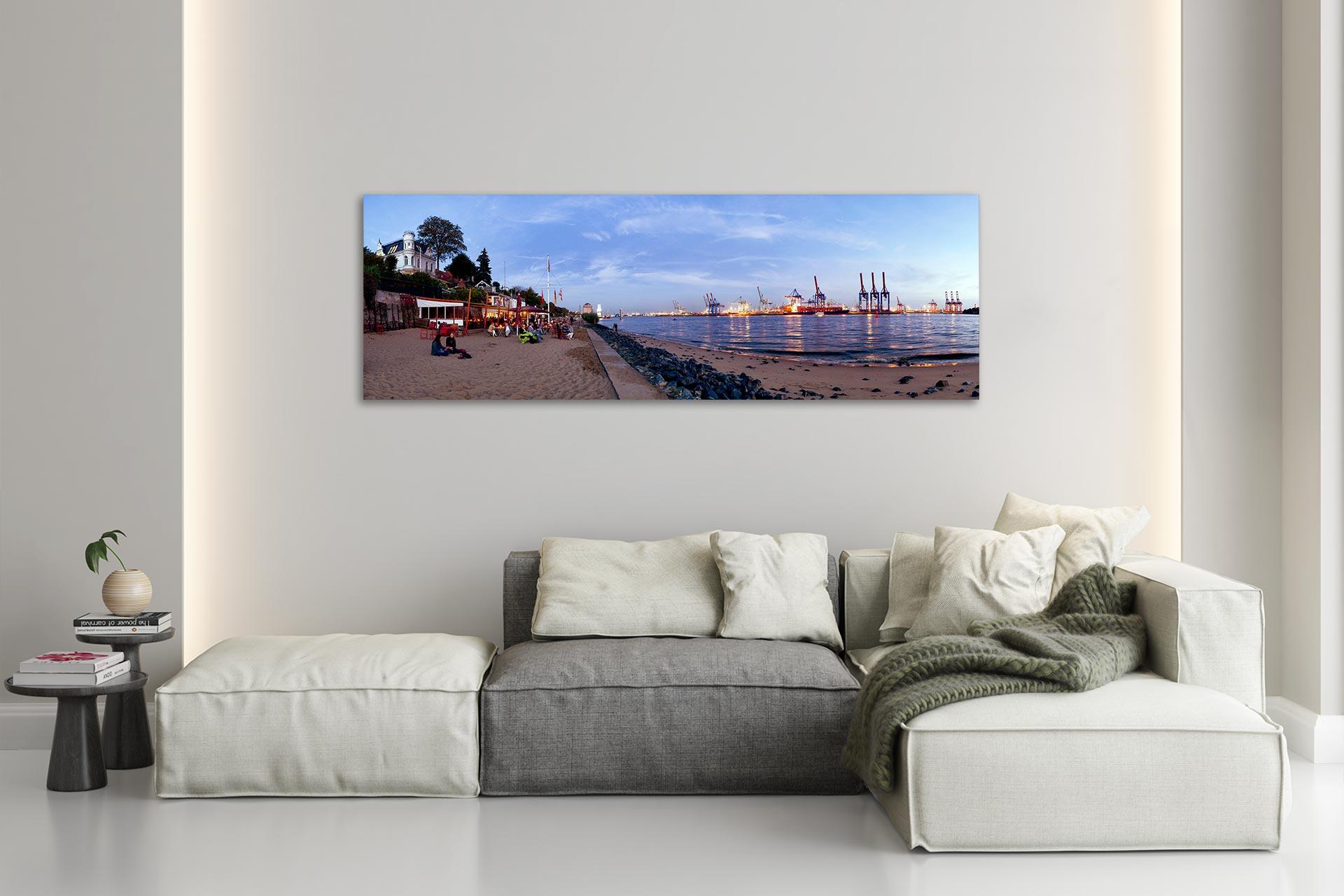 PSW020-elbstrand-panorama-hamburg-wandbild-leinwand-acrylglas-aludibond-wohnzimmer