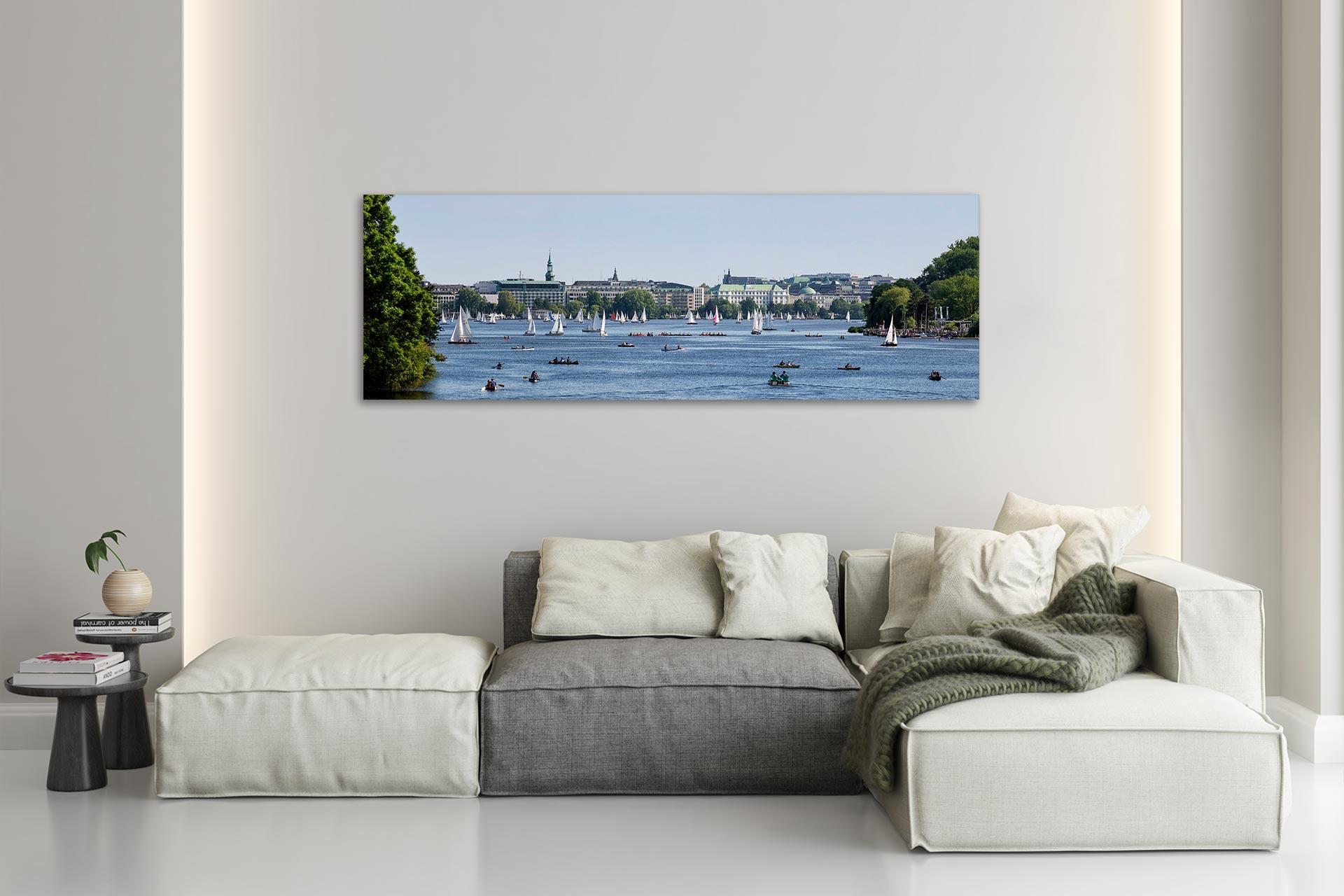 PSW027-panorama-alster-segeln-leinwand-acrylglas-aludibond-wohnzimmer