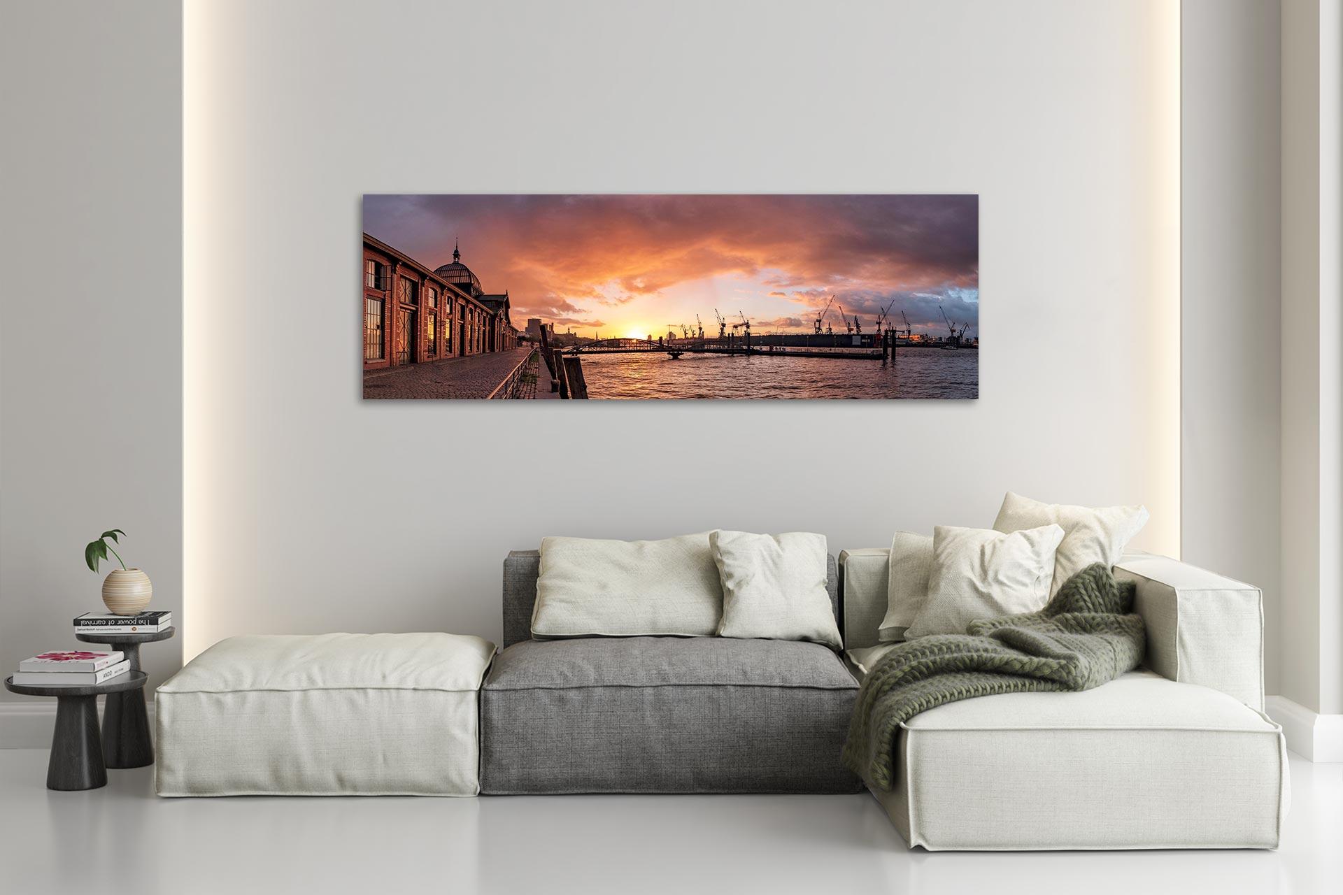 PSW104-morgenrot-hamburg-wandbild-auf-leinwand-acrylglas-aludibond-wohnzimmer