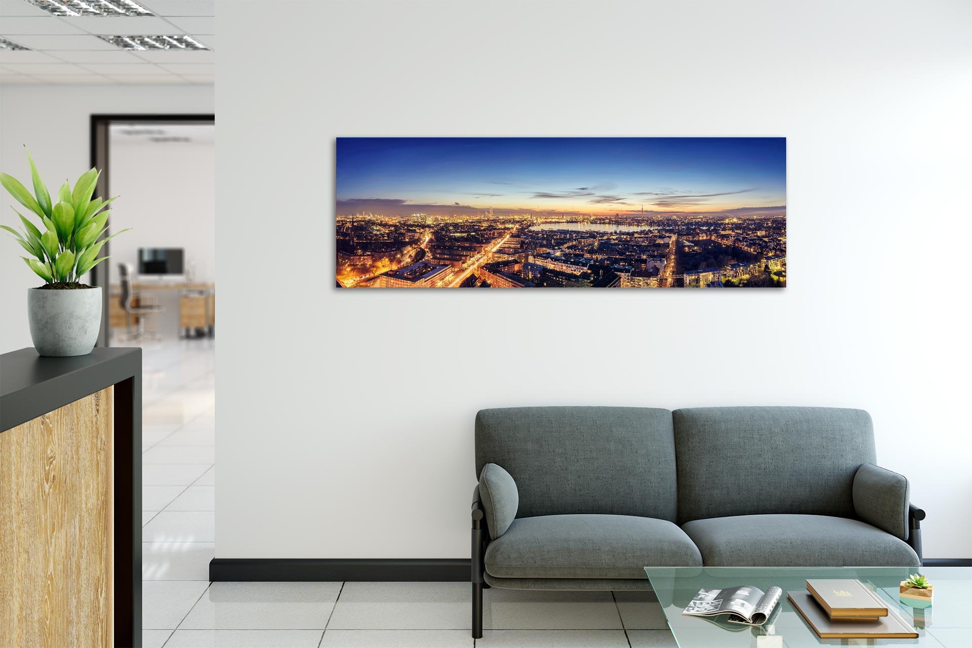 TG312-skyline-hamburg-wandbild-auf-leinwand-acrylglas-aludibond-empfang