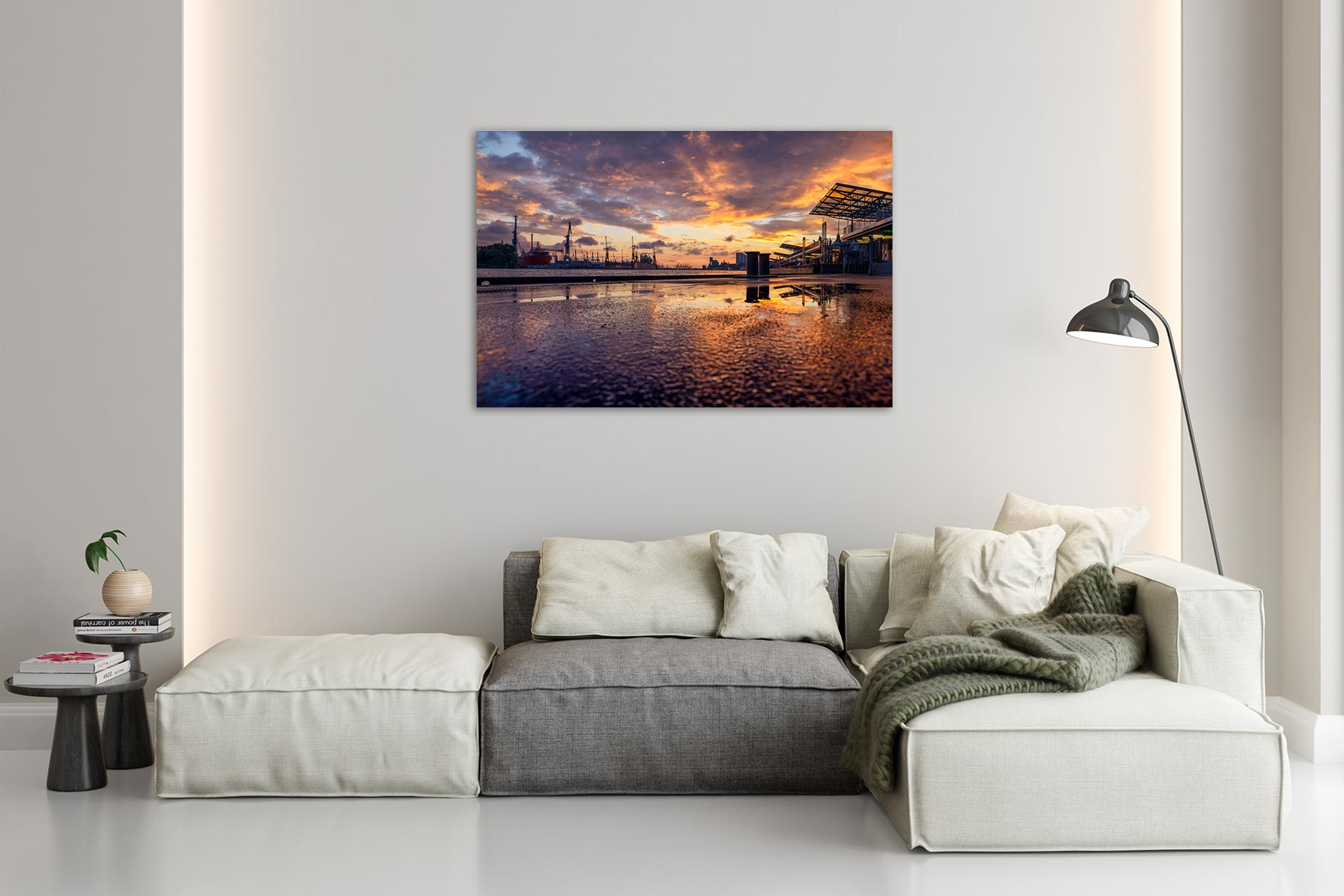 TG615-landungsbruecken-on-fire-wandbild-bild-auf-leinwand-acrylglas-aludibond-wohnzimmer