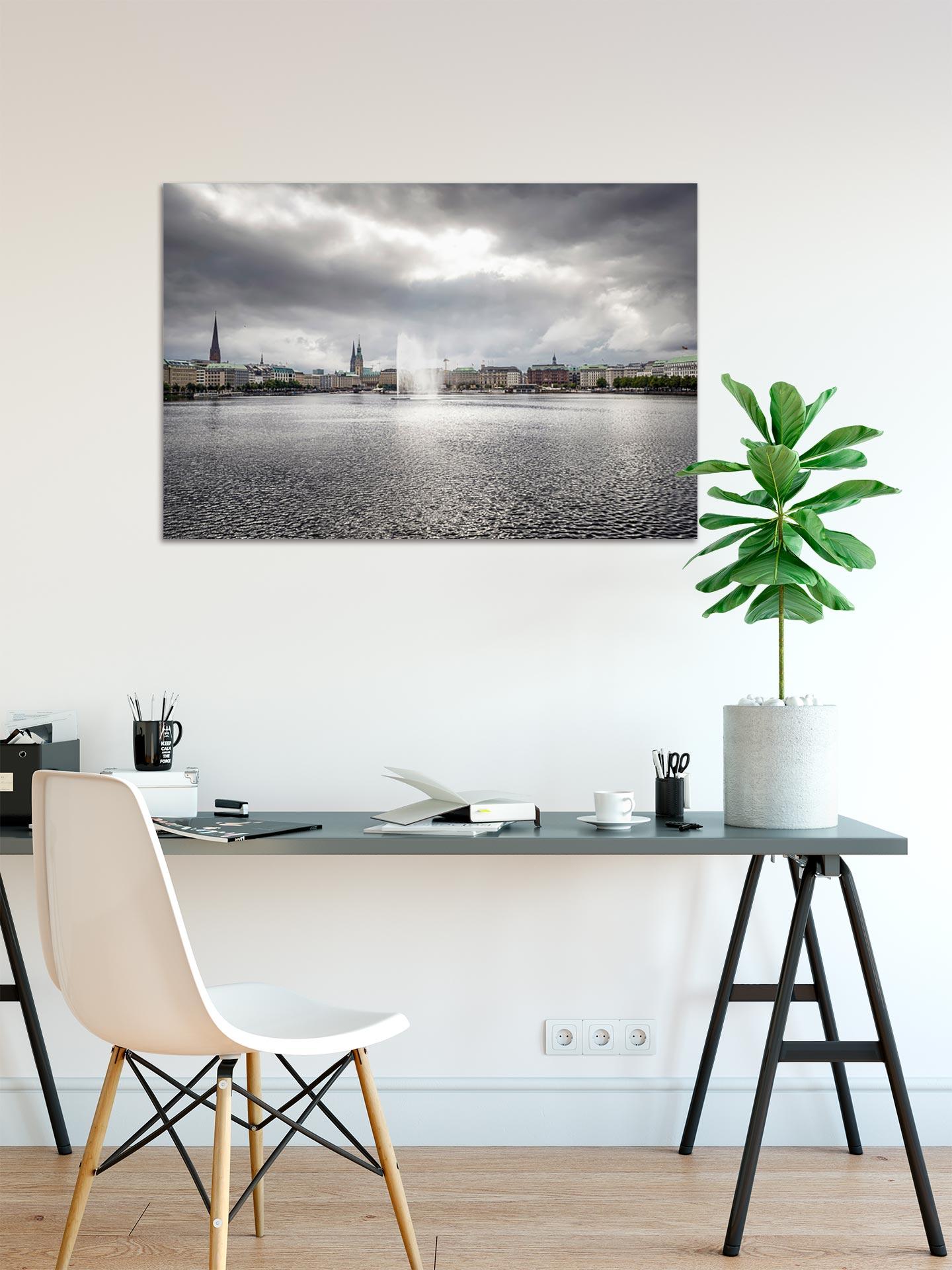 TG616-silbrige-alster-wandbild-bild-auf-leinwand-acrylglas-aludibond-arbeitszimmer