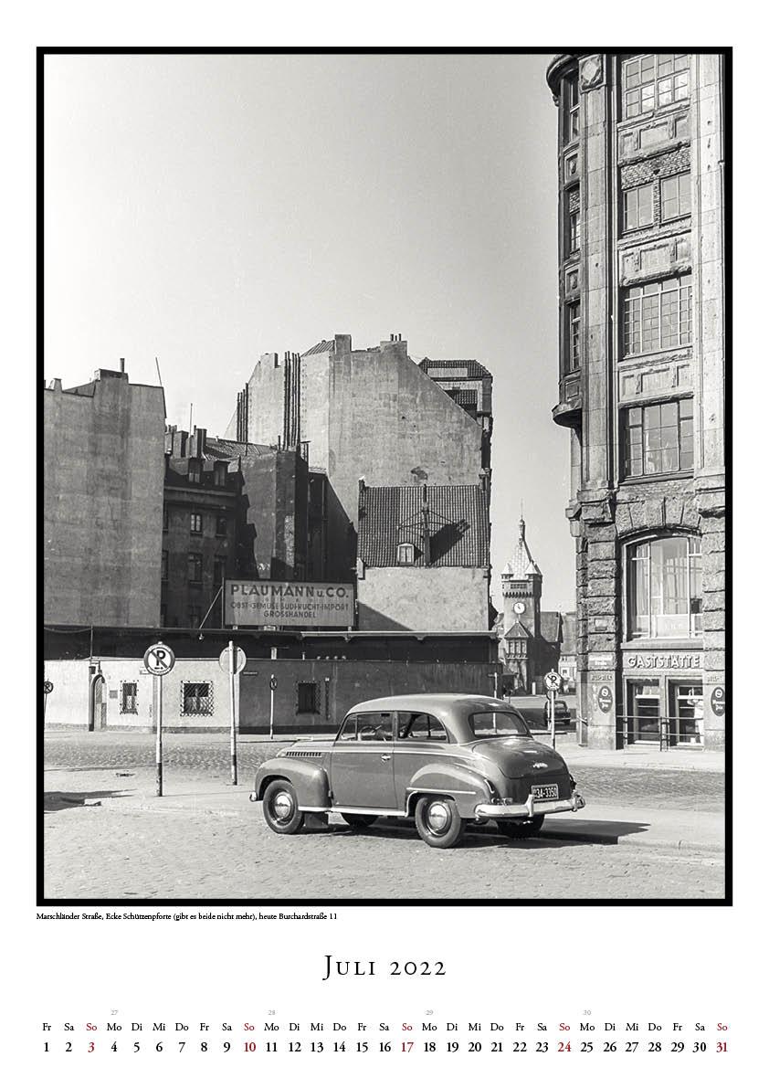 Hamburg Kalender 2022 SW Historische Fotos John Holler