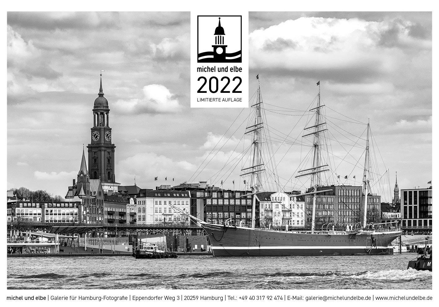 Hamburg-Kalender SW 2022 michel und elbe Titel