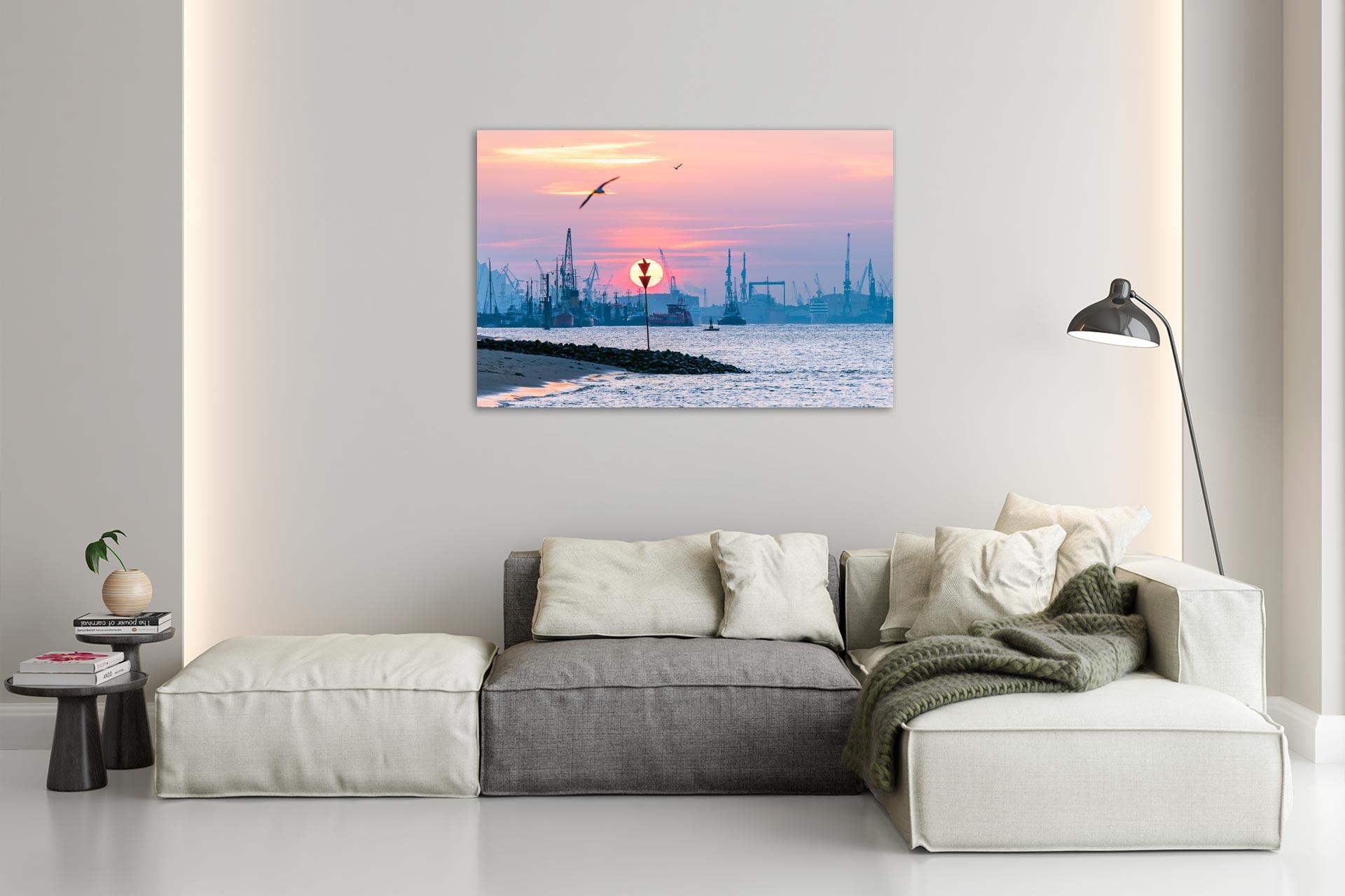 Neumühlen Wandbild, Bild auf Leinwand, Acrylglas, Aludibond, Wohnzimmer