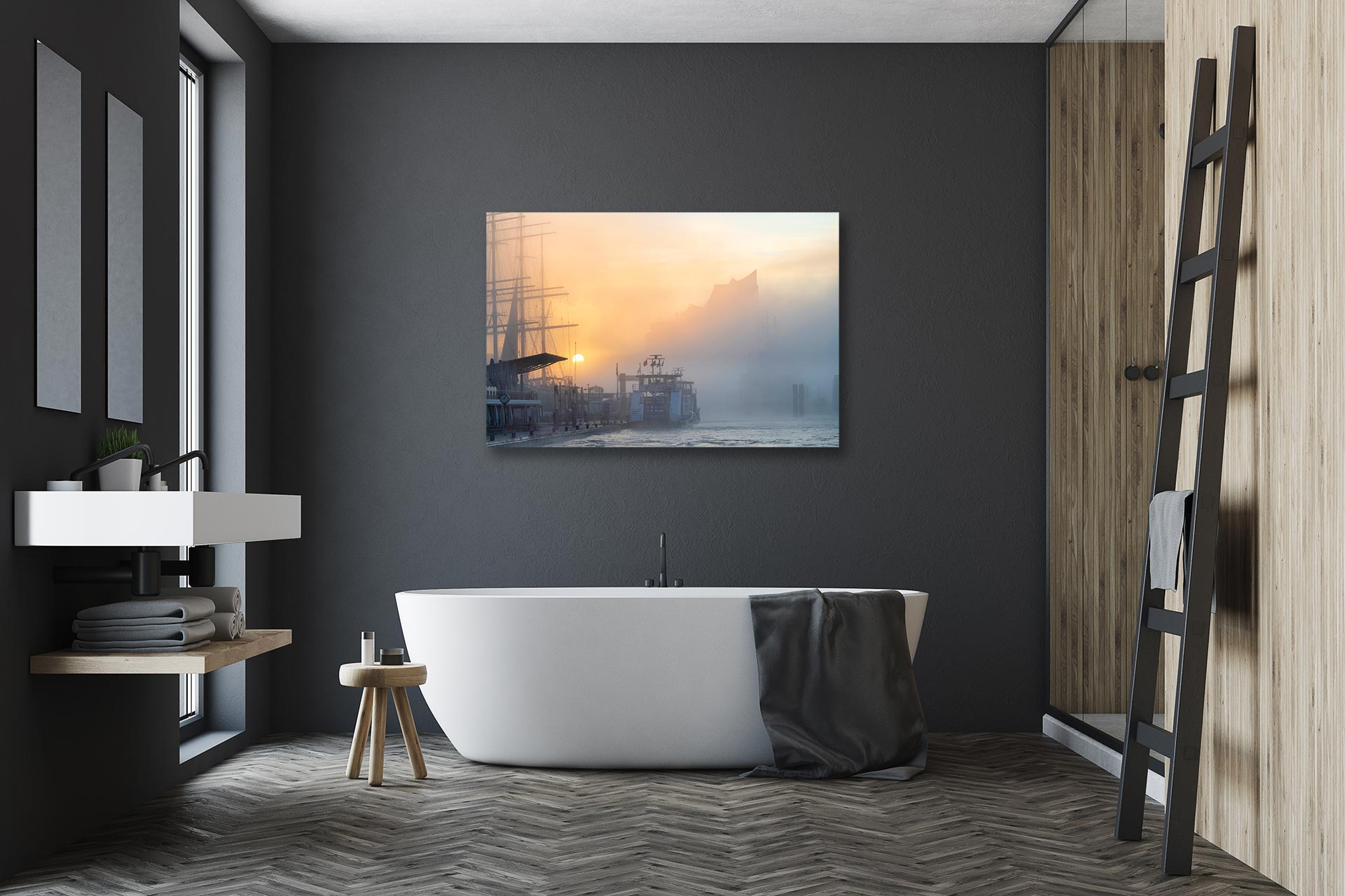 LCW299-sonnennebel-bild-auf-leinwand-acrylglas-aludibond-badezimmer
