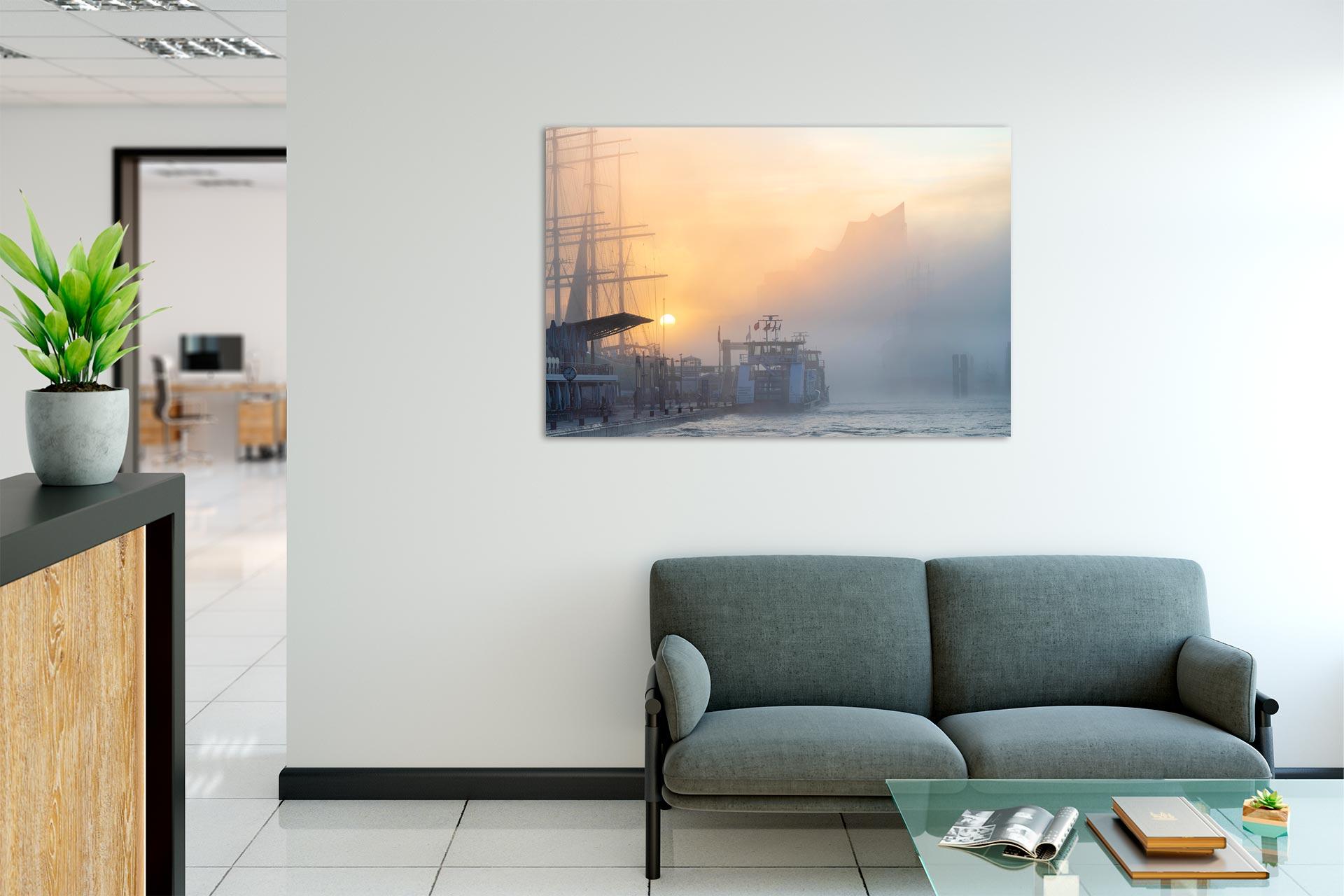 Sonnennebel Michel Und Elbe Galerie Fur Hamburg Fotografie