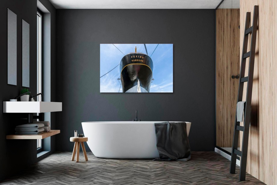 NL092-viermastbark-peking-hamburg-wandbild-leinwand-acrylglas-aludibond-badezimmer