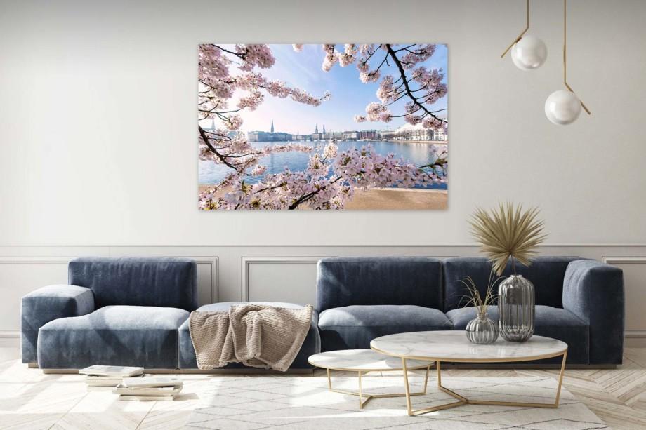 michel und elbe Galerie für Hamburg Fotografie Wandbild Alsterblüten