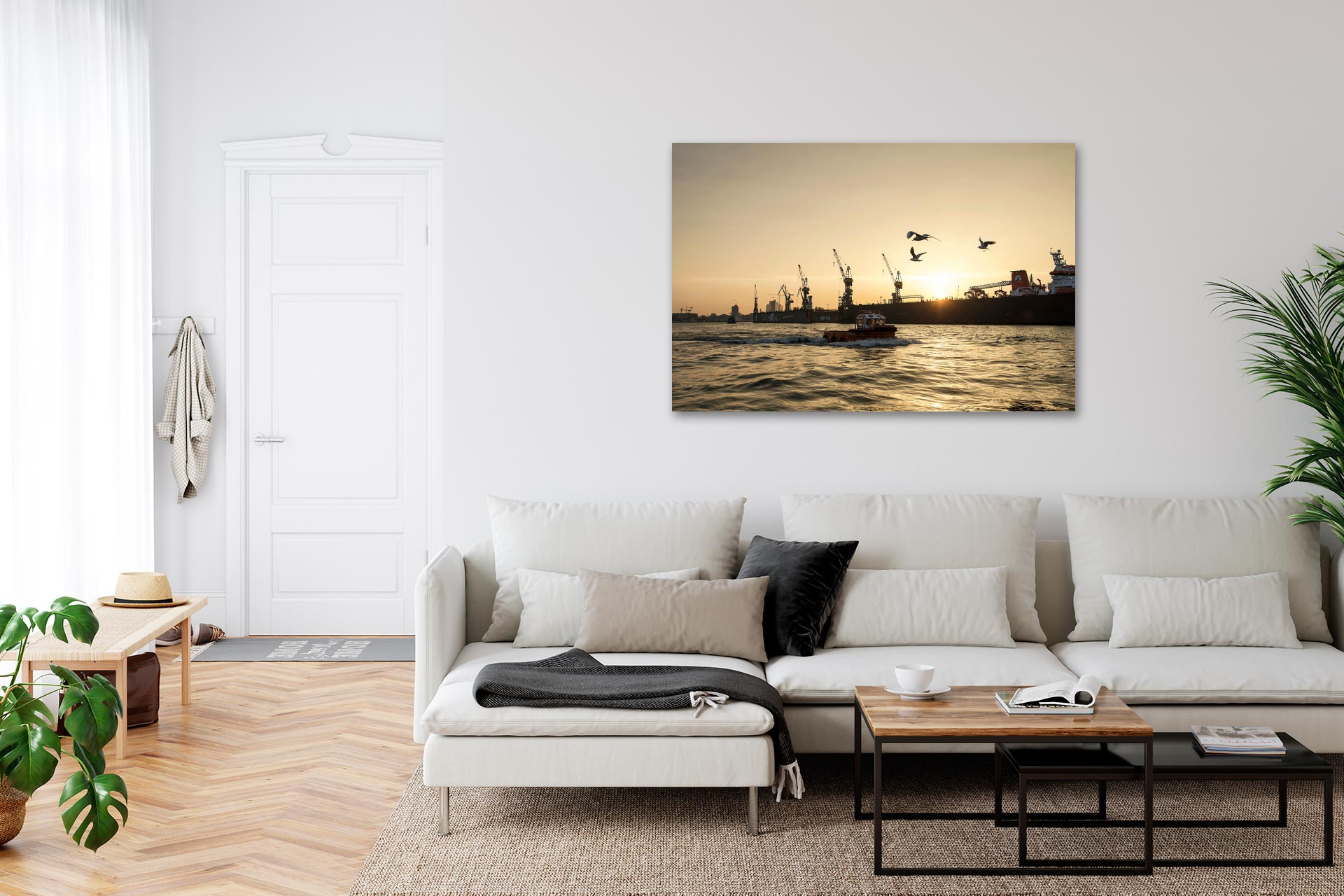 NL054-elbe-sunrise-hamburg-wandbild-leinwand-acrylglas-aludibond-wohnzimmer