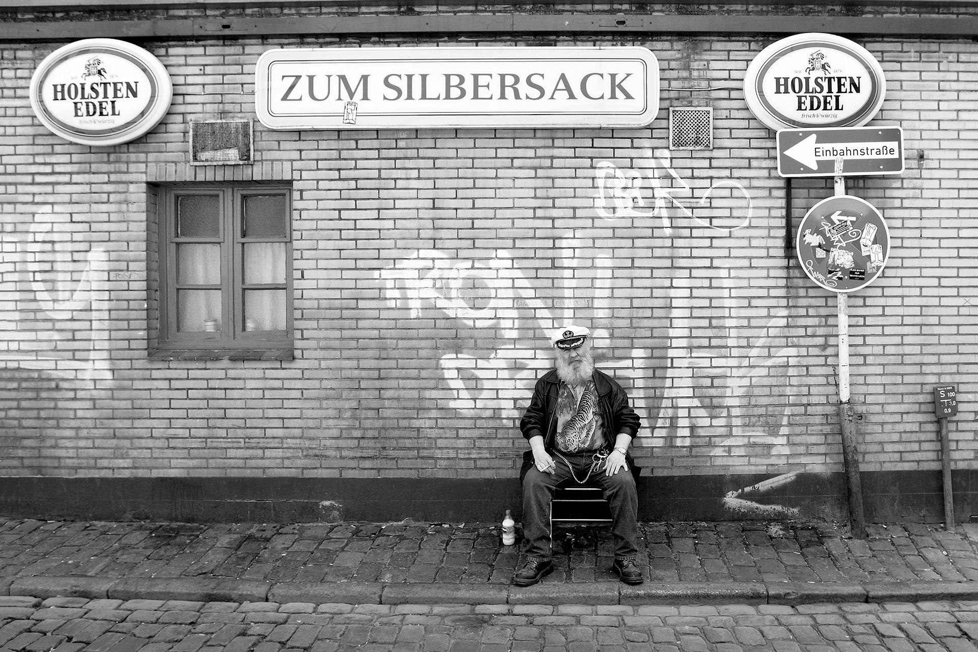 Silbersack Hamburg Wandbild auf Leinwand Acrylglas Aludibond